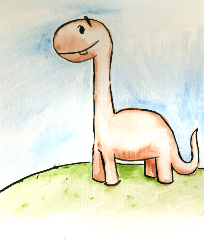 dinosaur watercolors animation art childrend kids licensing George Berlin